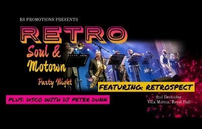 image of RETRO Soul and Motown Party Night featuring RETROSPECT