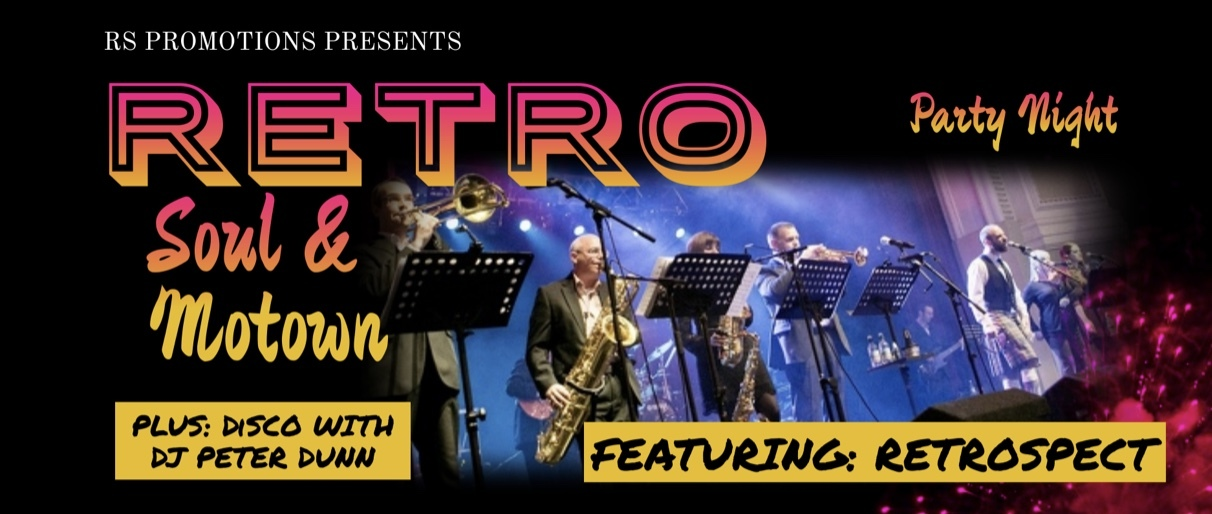 banner image for RETRO Soul and Motown Party Night featuring RETROSPECT