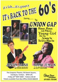 It's Back to the 60's starring the Union Gap Poster