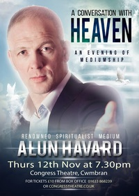 A Conversation with Heaven - an evening of mediumship with Alun Havard Poster
