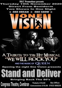 One Vision - a Tribute to We Will Rock You Poster