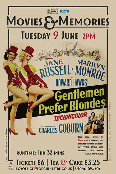 Movies & Memories: Gentlemen Prefer Blondes (U) at Torch Theatre