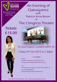 An Evening of Clairvoyance with Patricia Ann Bevan Poster