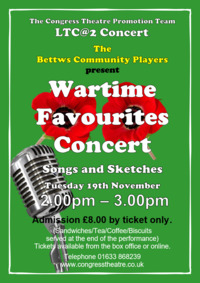 Wartime Favourites Concert Poster