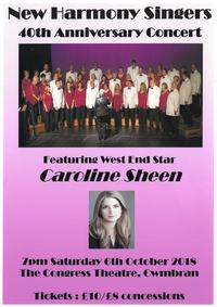 New Harmony Singers 40th Anniversary Concert Poster