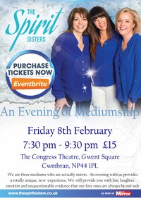 An Evening of Mediumship with the Spirit Sisters Poster