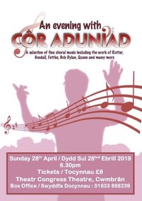 An Evening with Cor Aduniad Poster