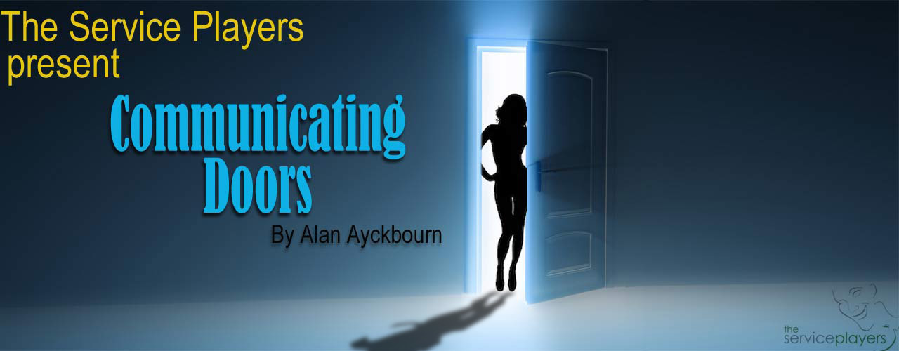 "banner image for The Service Players present ""Communicating Doors"" by Alan Ayckbourn"