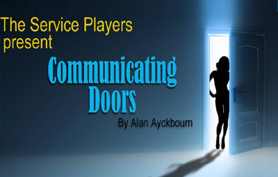"image of The Service Players present ""Communicating Doors"" by Alan Ayckbourn"